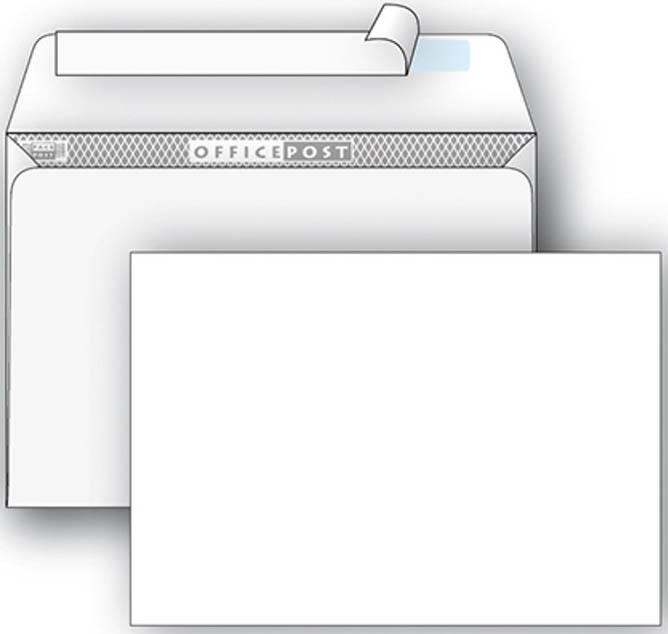 Конверт С4 OFFICEPOST ДЕКСТРИН внутр.запечатка прямой клапан 90 г/м2 229х324 цена за шт.